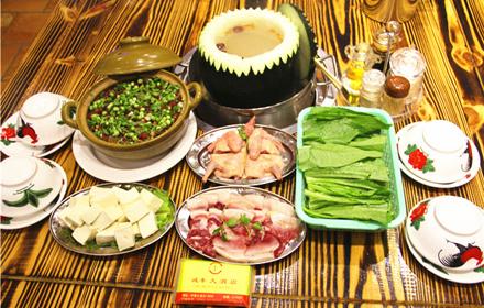 【河源大道】诚丰大酒店土菜馆4人火锅套餐,仅售98元,市场价134元。