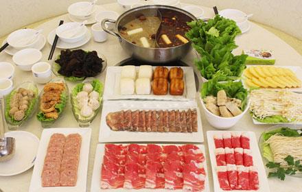【文昌东路】【喜来涮肥羊火锅】5-6人套餐;仅售179元,市场价284元