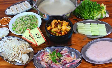 【文昌路】新同富渔村鱼火锅8-10人套餐,仅售299元,尊享市场价490元