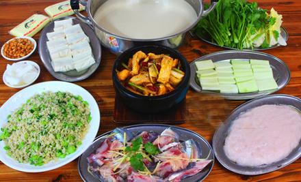 【文昌路】新同富渔村鱼火锅6-8人套餐,仅售199元,尊享市场价332元